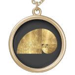 Coeficiente de oro, espiral de Fibonacci Collar Personalizado