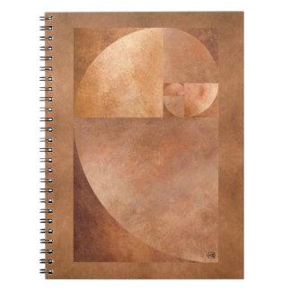Coeficiente de oro, espiral de Fibonacci Cuaderno
