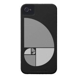 Coeficiente de oro, espiral de Fibonacci iPhone 4 Coberturas