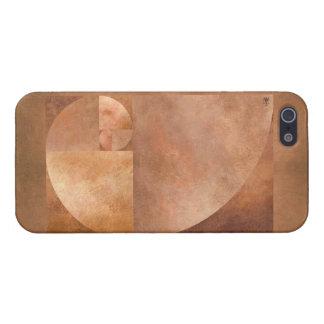 Coeficiente de oro, espiral de Fibonacci iPhone 5 Carcasa