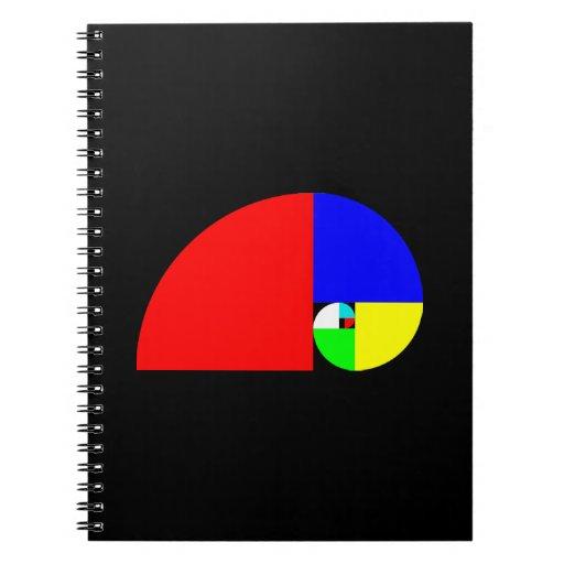 Coeficiente de oro, espiral de Fibonacci Libretas