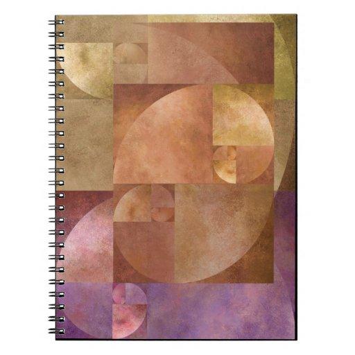 Coeficiente de oro, espiral de Fibonacci Notebook
