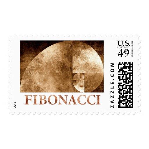 Coeficiente de oro, espiral de Fibonacci Sello