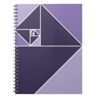Coeficiente de oro (púrpura) cuadernos