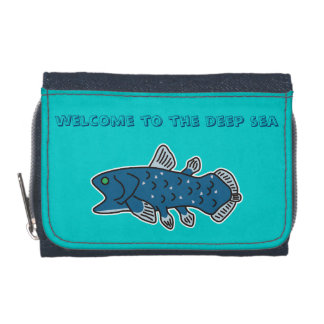 """Coelacanth Denim Wallet """"WELCOME TO THE DEEP SEA"""""""