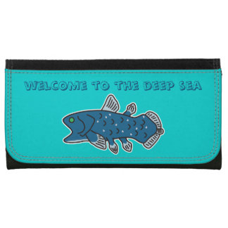 "Coelacanth Large Wallet ""WELCOME TO THE DEEP SEA"""