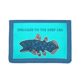 "Coelacanth Nylon Wallet ""WELCOME TO THE DEEP SEA"""