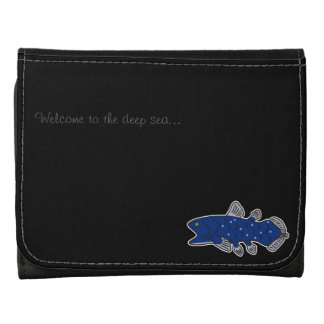 Coelacanth Small Leather Wallet Black