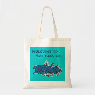 """Coelacanth Tote """"WELCOME TO THE DEEP SEA"""""""