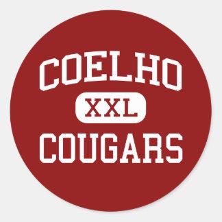 Coelho - Cougars - Middle - Attleboro Round Sticker