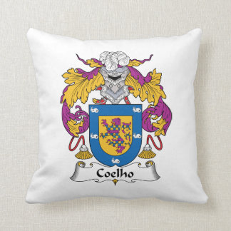Coelho Family Crest Throw Pillow