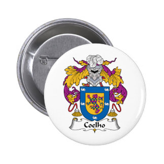 Coelho Family Crest Pinback Buttons