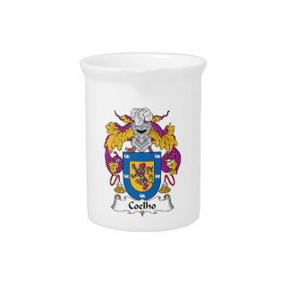 Coelho Family Crest Drink Pitchers