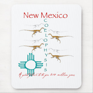 Coelophysis - State Fossil of New Mexico Mouse Pad