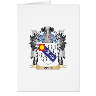 Coen Coat of Arms - Family Crest Greeting Card