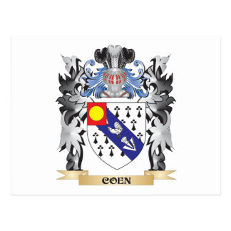 Coen Coat of Arms - Family Crest Postcard