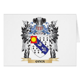 Coen Coat of Arms - Family Crest Stationery Note Card