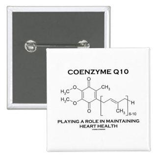 Coenzima Q10 que juega un corazón que mantiene del Pin Cuadrada 5 Cm