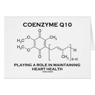 Coenzima Q10 que juega un corazón que mantiene del Tarjeta De Felicitación