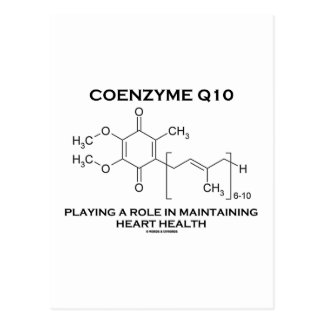 Coenzyme Q10 Playing A Role Maintaining Heart Postcard