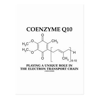 Coenzyme Q10 Unique Role Electron Transport Chain Postcard