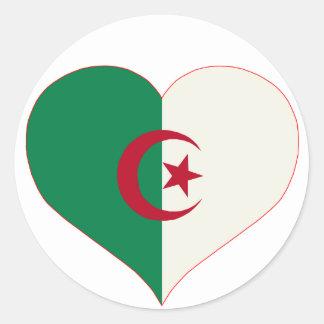 coeur algerie classic round sticker
