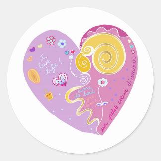 coeur classic round sticker