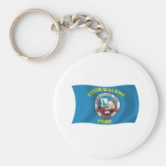Coeur d'Alene Flag Keychain