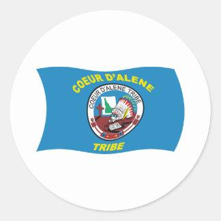 Coeur d'Alene Flag Sticker