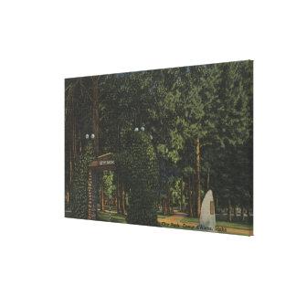 Coeur d'Alene, ID - View of City Park Canvas Print