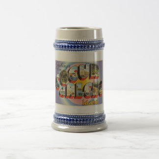 Coeur d'Alene Idaho ID Old Vintage Travel Souvenir Beer Stein