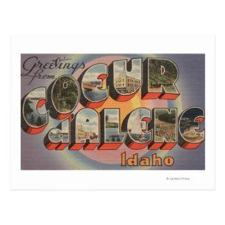 Coeur d'Alene, Idaho - Large Letter Scenes Post Card