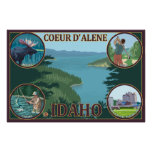 Coeur D'Alene, IdahoScenic Travel Poster