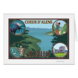 Coeur D'Alene, IdahoScenic Travel Poster Greeting Card