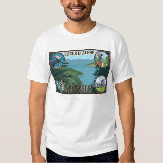 Coeur D'Alene, poster del viaje de IdahoScenic Camisas