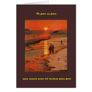 Coeur de Crepuscule carte (Sunset Heart card)