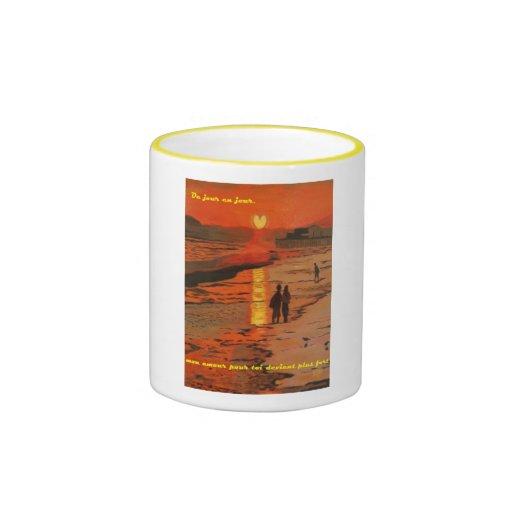 Coeur de Crepuscule grande tasse (Sunset Heart mug
