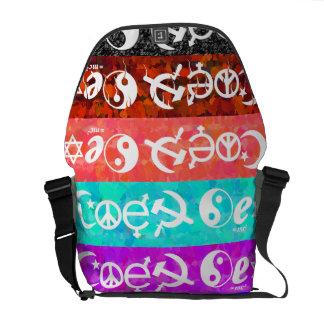 """Coexist"" Courier Bag"