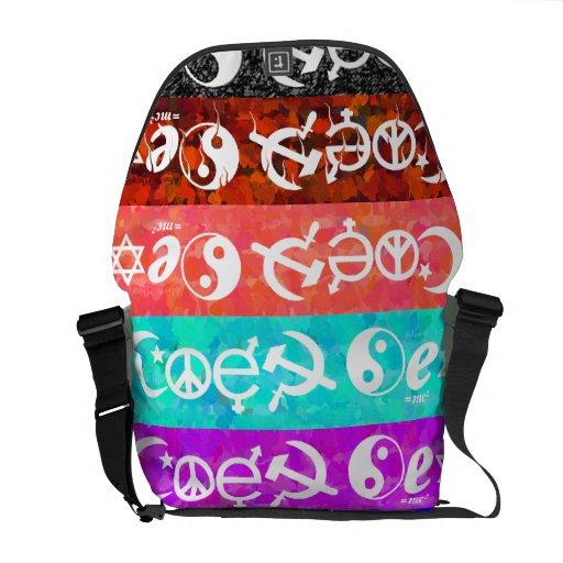 """Coexist"" Messenger Bags"