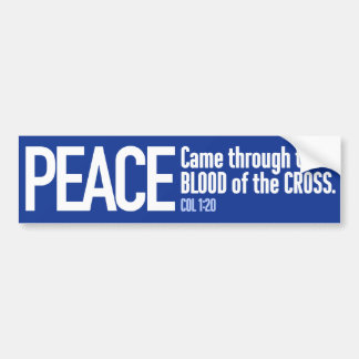 Coexist: with Peace through the Blood of the Cross Bumper Stickers