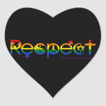 Coexist with Respect Gay Pride Heart Sticker