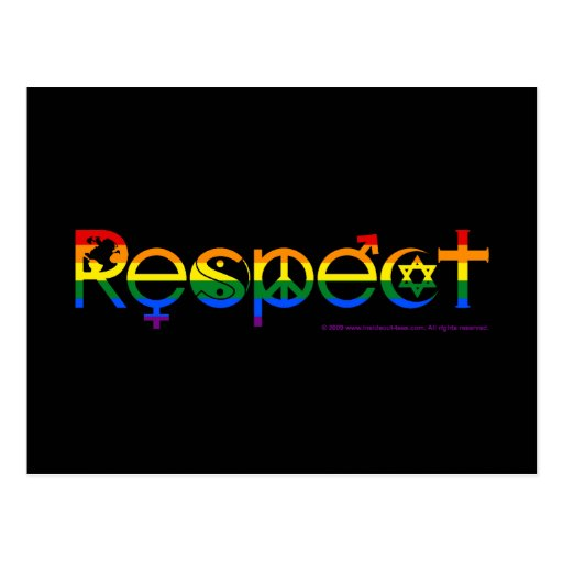 Coexist with Respect Gay Pride Postcard