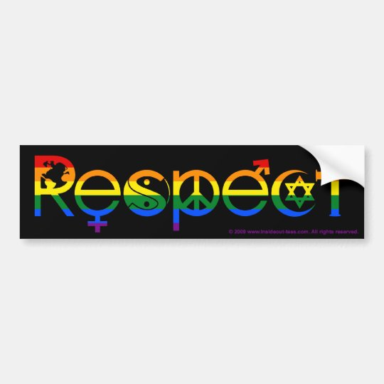 Coexist With Respect Gay Pride Rainbow Flag Bumper Sticker Zazzle