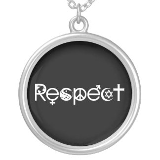 Coexist With Respect Round Pendant Necklace