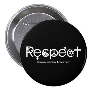 Coexist with Respect - Peace Kindness & Tolerance Button