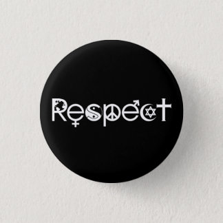 Coexist with Respect - Peace Kindness & Tolerance Pinback Button