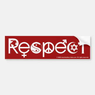 Coexist With Respect Red Bumper Sticker