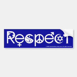 Coexist With Respect (White on Blue) Car Bumper Sticker
