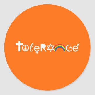 COEXIST WITH TOLERANCE CLASSIC ROUND STICKER