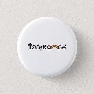 COEXIST WITH TOLERANCE PINBACK BUTTON